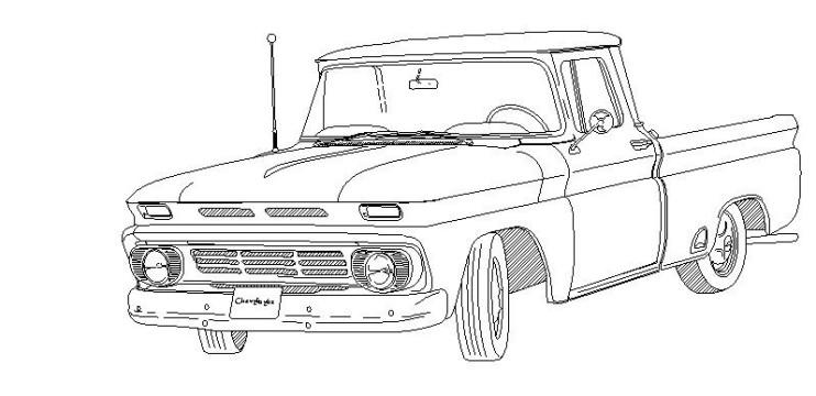 Line Drawings For Paint Mock Up Chevy Message Forum