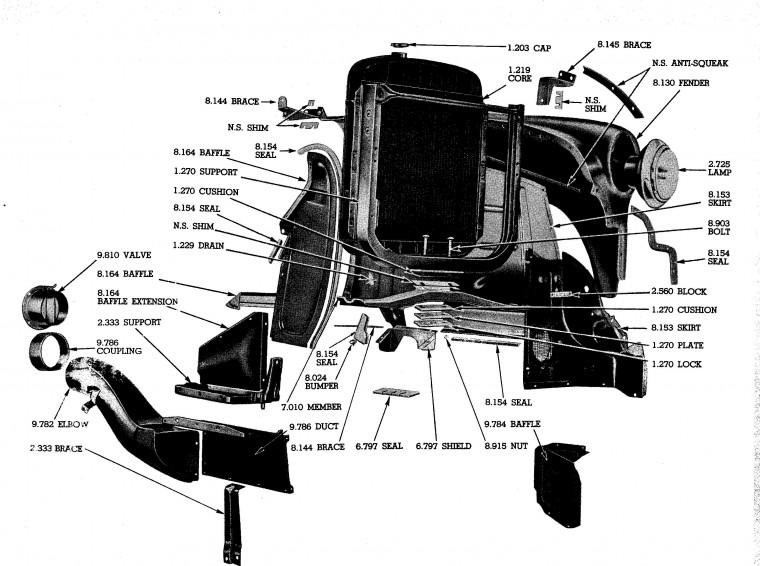 Radiator support mounting - Chevy Message Forum - Restoration and ...