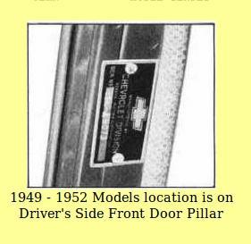 Hidden Vin Serial Number On 1951 Chevrolet Chevy Message Forum